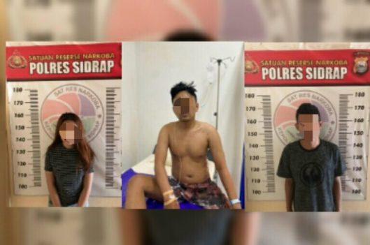 Satnarkoba Polres Sidrap Amankan Tiga Pelaku Narkoba